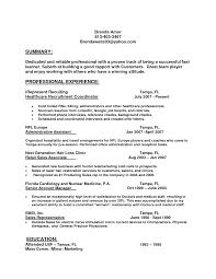 Sample Resume Of Healthcare Recruiter Augustais