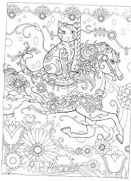 Ladies Hat Coloring Pages Cat Book And Crazy Lady Creative Cats
