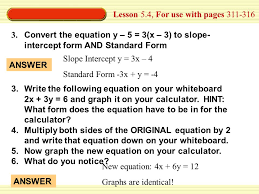 lesson 5 4 for use with pages 311 316