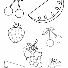 Summer Colouring Pages For Preschool With Free Summer Fruits