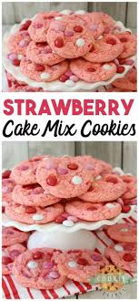 Strawberry Cake Mix Cookies Family Cookie Recipes