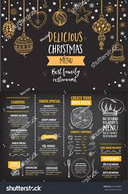 Free Holiday Design Templates Vector Christmas Restaurant Brochure Menu Design Stock