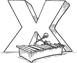 Small Picture X For Xylophone Alphabet Coloring Pages Alphabet Coloring pages