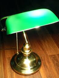 bankers table lamp green