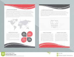 Brochure Cover Pages Vector Flyer Template Design With Front Page And Back Page Business