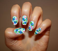 White Rose Nail Design Blue Rose Nails