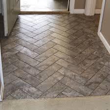 herringbone vinyl tile pattern via grace gumption