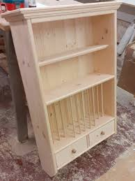 wooden plate rack mary wall mounted
