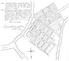 Copy of sketch for the layout of rome georgia 1834 drawing by daniel