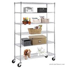 suncoo wire shelving unit storage rack metal kitchen shelf stainless steel adjule 6 tier shelves with