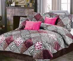 extraordinary pink and black leopard print bedding easy interior