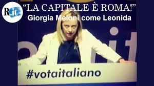 Meloni come Leonida: