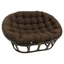 international caravan double papasan chair with solid cushion tangerine dream 3304 tw td
