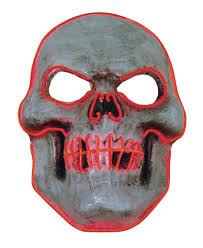 Light Up Skull Mask Evil Red Skull Led Light Up Halloween Costume Mask