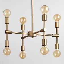 mid century modern chandelier vintage antique gold modular 8 bulb chandelier