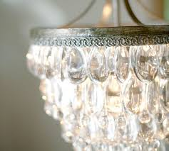 clarissa crystal drop small round chandelier pottery barn for modern household glass drop chandelier remodel