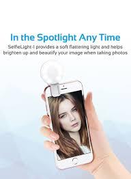 Soft Selfie Light Shop Promate Clip On Selfie Ring Light White Online In Dubai