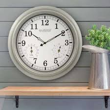 thermometer and hygrometer indoor outdoor quartz wall clock
