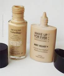revlon colorstay verus make up forever mat velvet