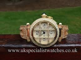 cartier pasha grille 18ct yellow gold diamond set automatic 38mm uk specialist watches have a stunning cartier pasha grille 18ct yellow gold diamond set grill and