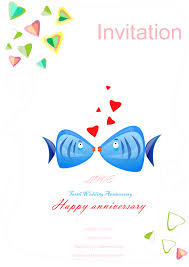 Wedding Anniversary Invitation Free Wedding Anniversary