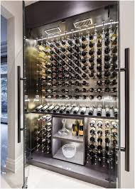modern custom reach in wine cellar featuring the cable wine system designed and constructed by papro