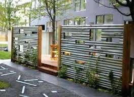 wood and metal fence corrugated metal and wood fence wood and metal fence