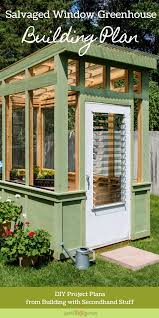 build an old window greenhouse