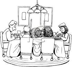 dinner table clipart black and white. dinner table clipart black and white
