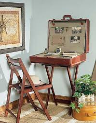 furniture upcycle ideas. Reuse Old Suitcase Diy Table Chair Flower Decoration Furniture Upcycle Ideas