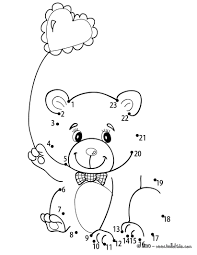 Small Picture Teddy bear heart balloon coloring pages Hellokidscom
