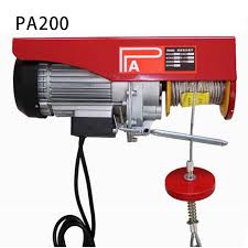 <b>Mini electric</b> hoist car <b>220V wireless</b> remote control hoist small ...