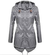 images gallery fashion jiuhap women s lightweight hooded raincoat waterproof