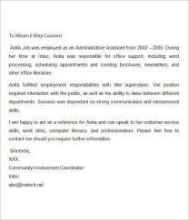 letter for recommendation example of a letter recommendation for job granitestateartsmarket