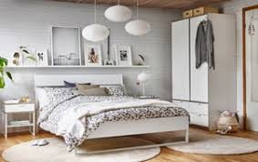 white bedroom furniture ikea.  Ikea Double Bed In Whitelight Grey A Bedroom With White Brick Walls And Wood For White Bedroom Furniture Ikea E