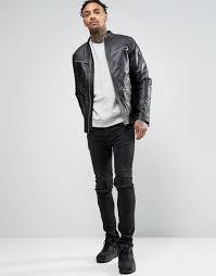 g star mower leather jacket black men g star raw g