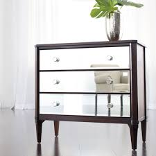 Furniture: Astonishing Image Of 3 Drawer Mirrored Dresser And ..