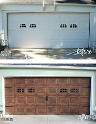 wood garage door builderFaux Wood Garage Door Tutorial  Prodigal Pieces