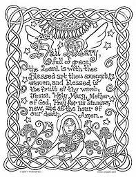 Hail Mary Catholic Coloring Page Catholic Kids Catholic