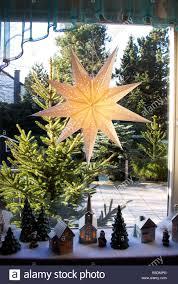 Weihnachten Adventszeit Festlich Geschmückten Fenster