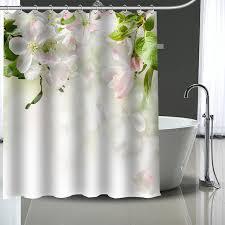 custom cherry blossoms shower curtain modern fabric bath curtains home decor curtains more size custom your
