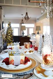 red and white table decorations. Uncategorized Gold And Red Christmas Table Decorations Fascinating White Holiday Tablescape With A