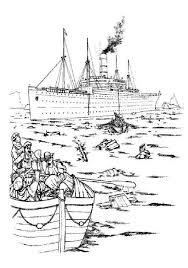 Carpathia Het Reddings Schip Kleurplaat Jouwkleurplaten