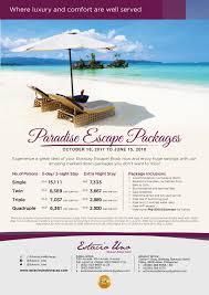 paradise escape package