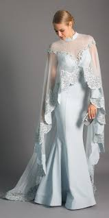 Elegance Designer Wear Maison Elegance Haute Couture Embellished Gown Cape