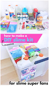 if you have a slime loving child consider putting together this massive diy slime kit
