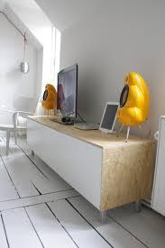 Clean, sleek media console from Besta   IKEA Hackers