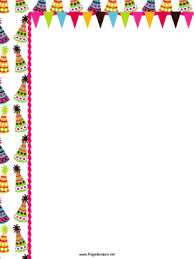 Small Picture ColorfulHatsPartyBorderpng