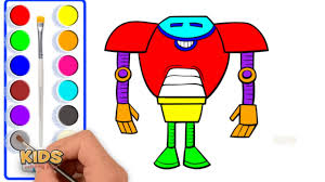 How To Draw Waats Blaze Transforming Robot Power Doraemon Super