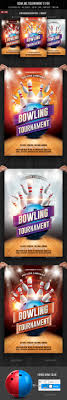 Bowling Event Flyer Template Bowling Flyer Graphics Designs Templates From Graphicriver